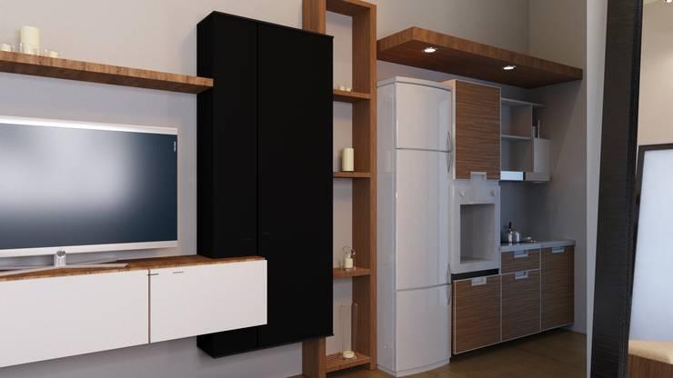 apartemen tipe studio:  Dapur kecil  by NK studio