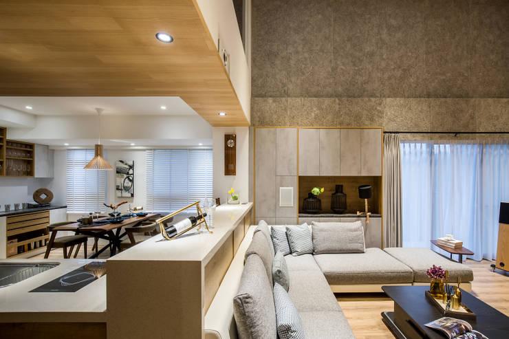 Dining room oleh 解構室內設計