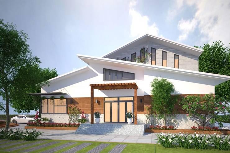 Các mẫu thiết kế biệt thự nhà vườn 2 tầng mới nhất 2019:  Biệt thự by CÔNG TY CỔ PHẦN XD&TM KIẾN TẠO VIỆT