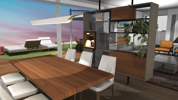 Dining room by Form Arquitetura e Design, Modern Solid Wood Multicolored