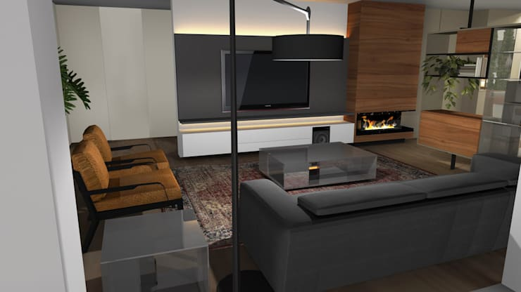 Salas / recibidores de estilo  por Form Arquitetura e Design, Moderno