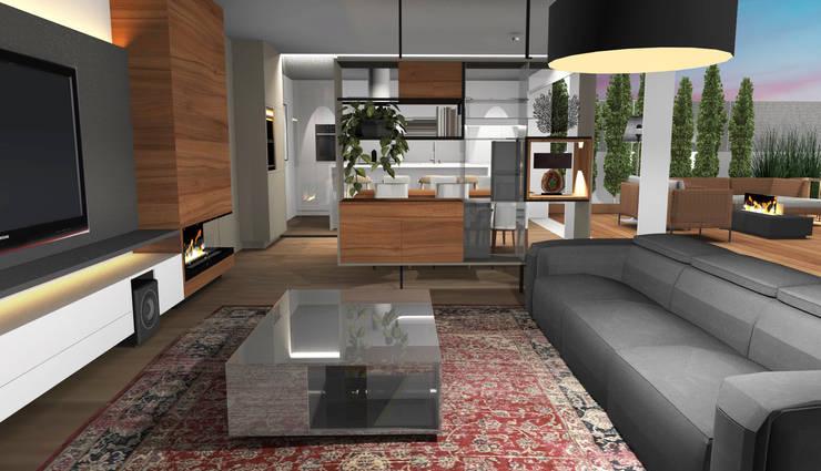 Salas / recibidores de estilo  por Form Arquitetura e Design, Moderno Vidrio