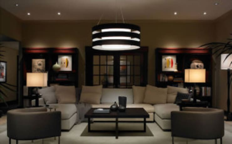 Lighting Control:  Living room by Integrated Home and Office