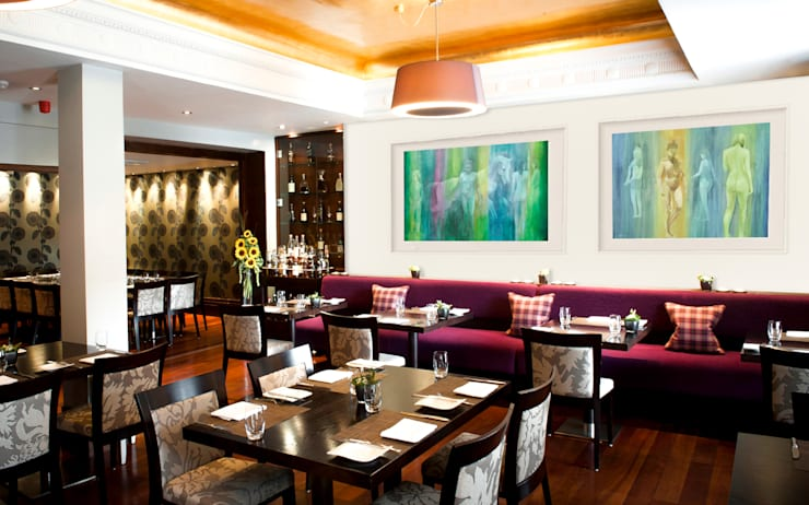 Decoración con arte en restaurante formal: Restaurantes de estilo  por Arca México