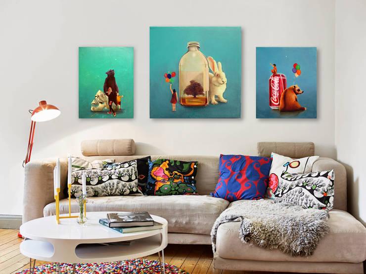 Obras de arte para family room: Salas de estilo  por Arca México