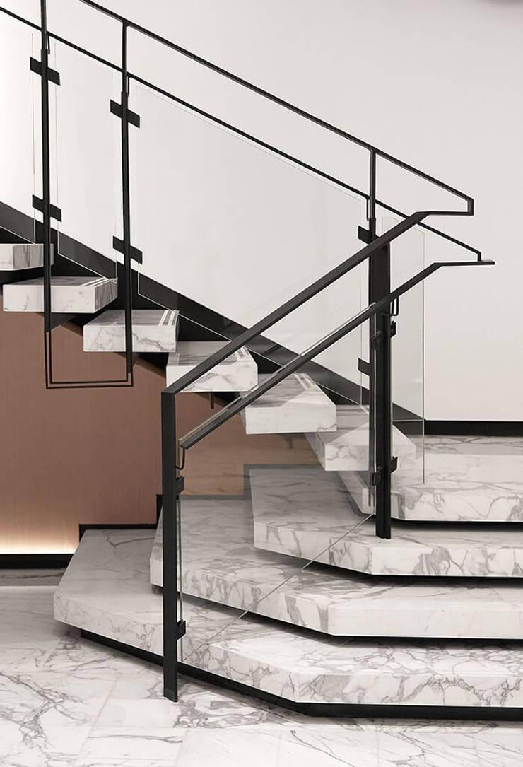3. Những điều cần lưu ý khi chọn lựa đá Marble ốp cầu thang:  Artwork by Công ty TNHH truyền thông nối việt