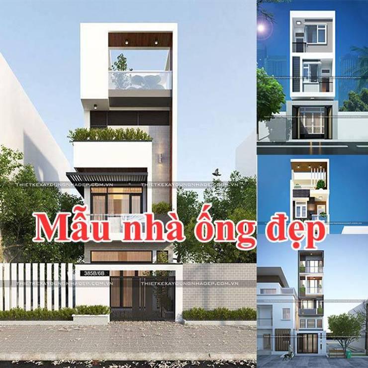 Những mẫu mặt tiền nhà ống đẹp hiện đại:   by Công ty cổ phần tư vấn kiến trúc xây dựng Nam Long