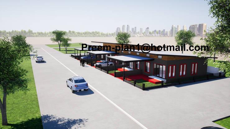 โครงการอาคารพาณิชย์:  วิลล่า by รับเขียนแบบบ้าน&ออกแบบบ้าน