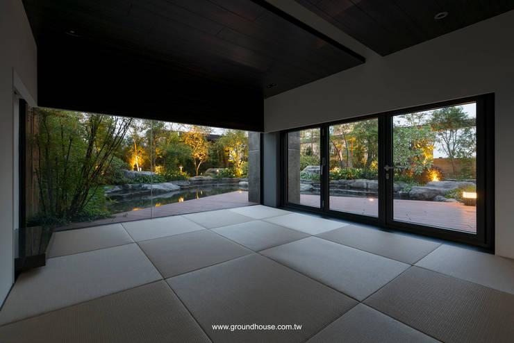 和室一隅:  辦公大樓 by 大地工房景觀公司