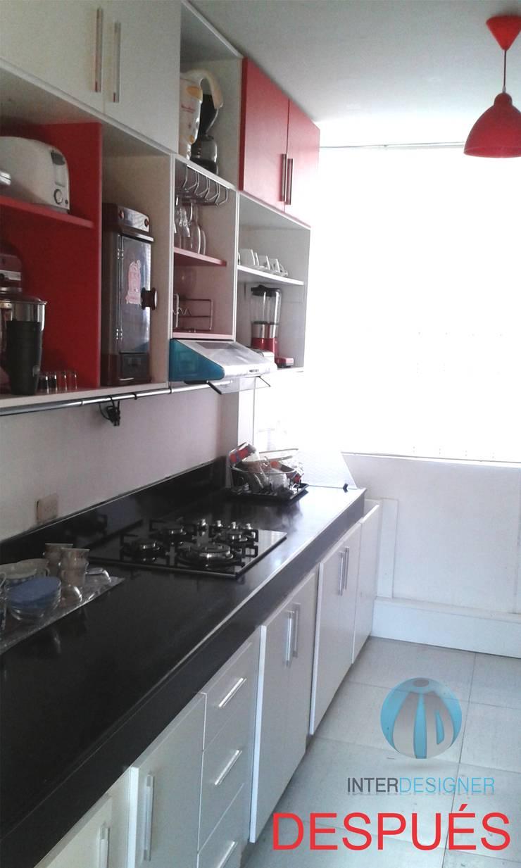 REMODELACIÓN DE COCINA: Cocinas equipadas de estilo  por Inter Designer,