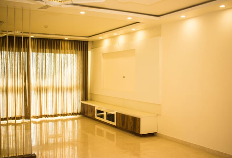 Living room by SSDecor, Modern Engineered Wood Transparent