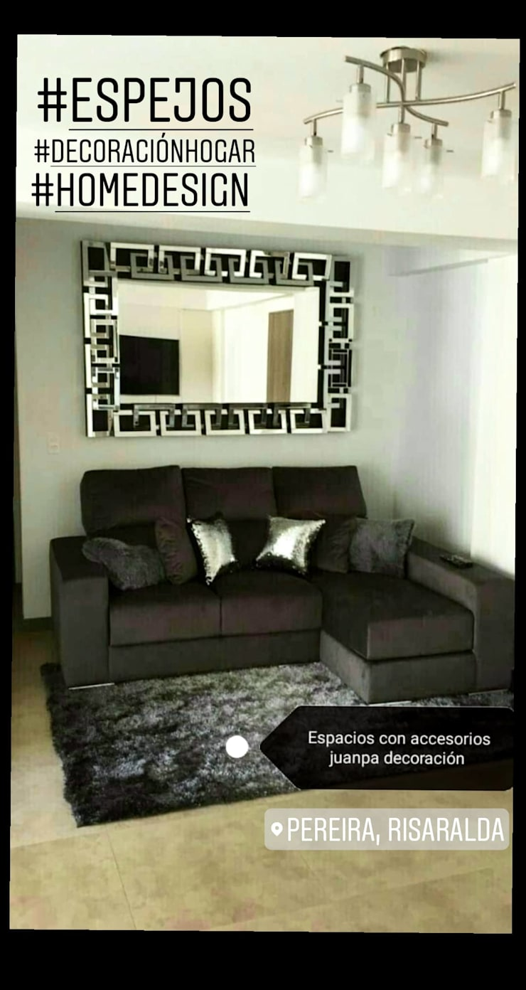 Espejos decorativos : Hogar de estilo  por Juanpa decoración