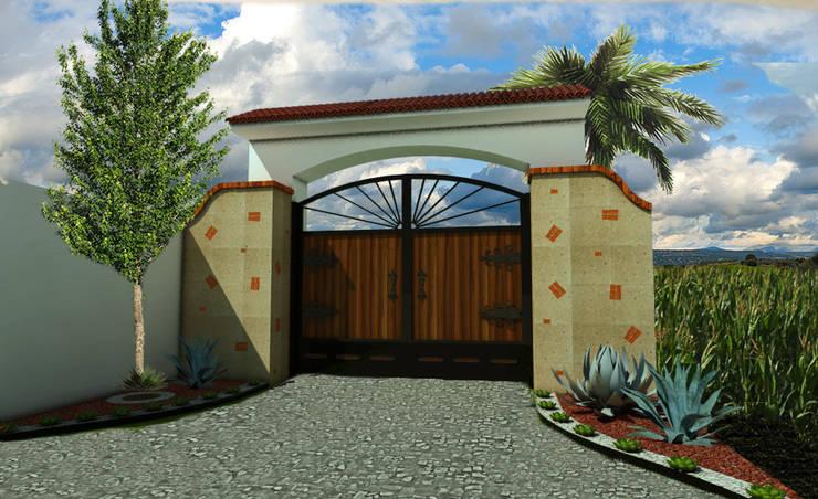 Puertas de madera de estilo  por AR Arquitectura y Diseño, Rústico Madera Acabado en madera
