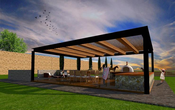 Terrazas de estilo  por AR Arquitectura y Diseño, Rústico Hierro/Acero