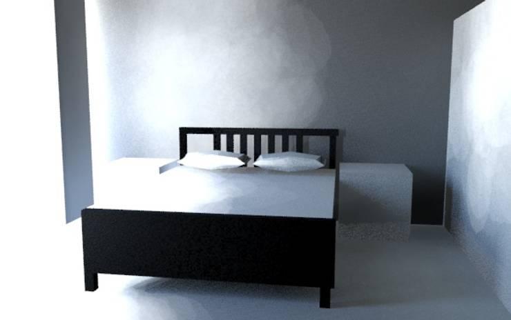 IKEA室內設計:  小臥室 by 天空設計