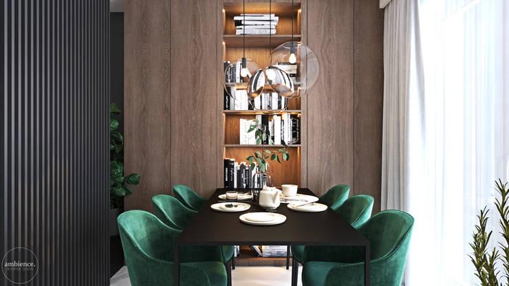 Mieszkanie w kolorze kaszmiru: styl , w kategorii Jadalnia zaprojektowany przez Ambience. Interior Design