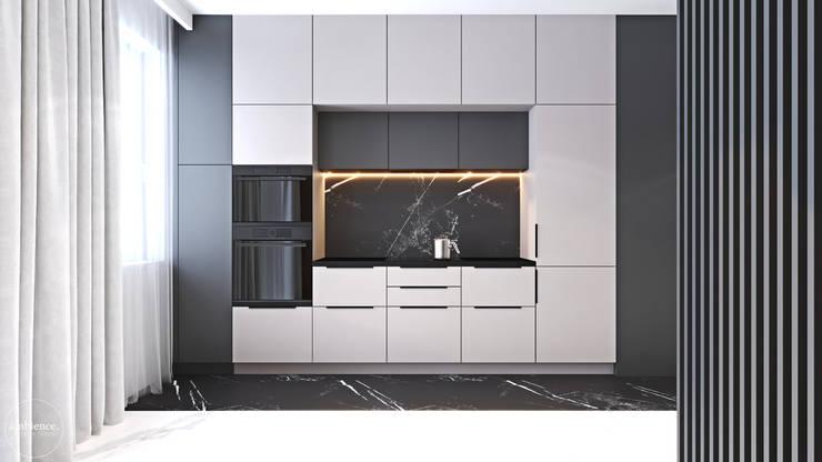 Mieszkanie w kolorze kaszmiru: styl , w kategorii Kuchnia zaprojektowany przez Ambience. Interior Design