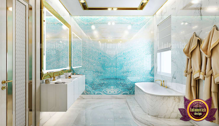 Outstanding Bathroom Interior for a Huge Home:   by Luxury Antonovich Design