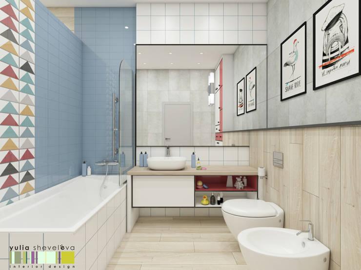 Phòng tắm by Мастерская интерьера Юлии Шевелевой