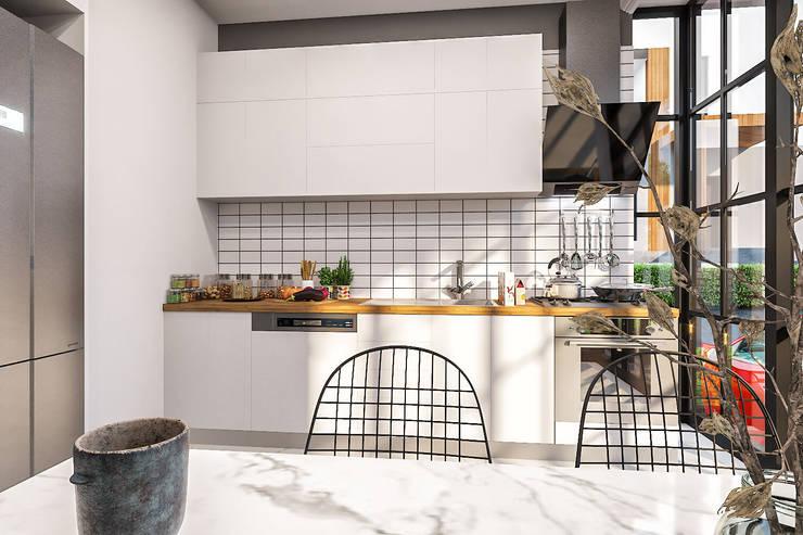 ANTE MİMARLIK  – Mutfak tasarım:  tarz Küçük Mutfak