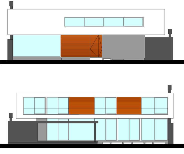 A&R House: Casas unifamiliares de estilo  por BK KREATIVE BUILDINGS,