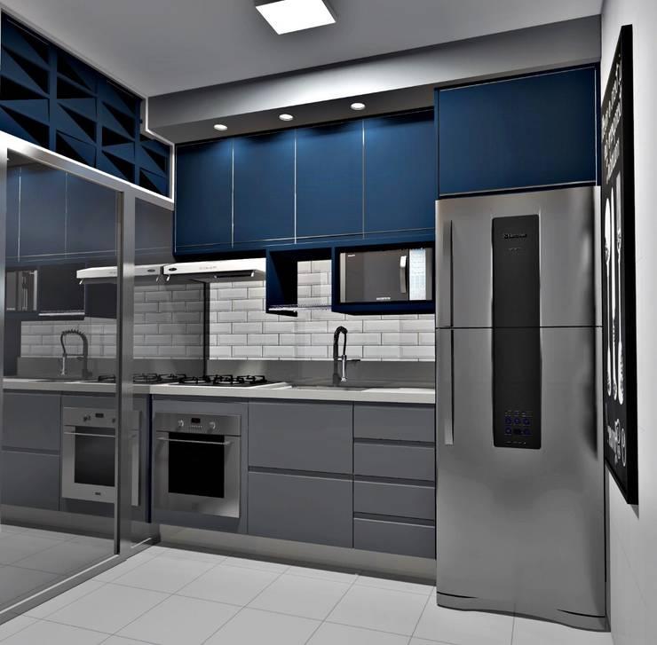 Cozinha | Apartamento: Cozinhas pequenas  por Planejadecor