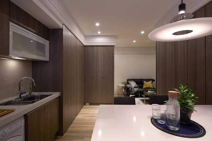 Salle à manger de style  par 大福空間設計有限公司,