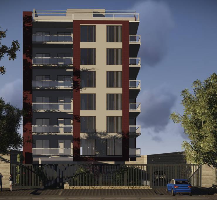 visualización de proyecto 3d:  de estilo  por GT/HR arquitectos,