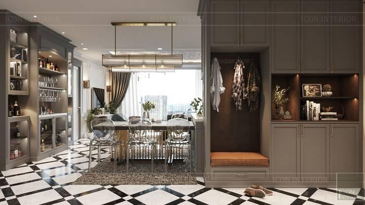 Phong cách Art Deco và New York Style kết hợp trong thiết kế nội thất căn hộ Vinhomes Golden River:  Phòng ăn by ICON INTERIOR
