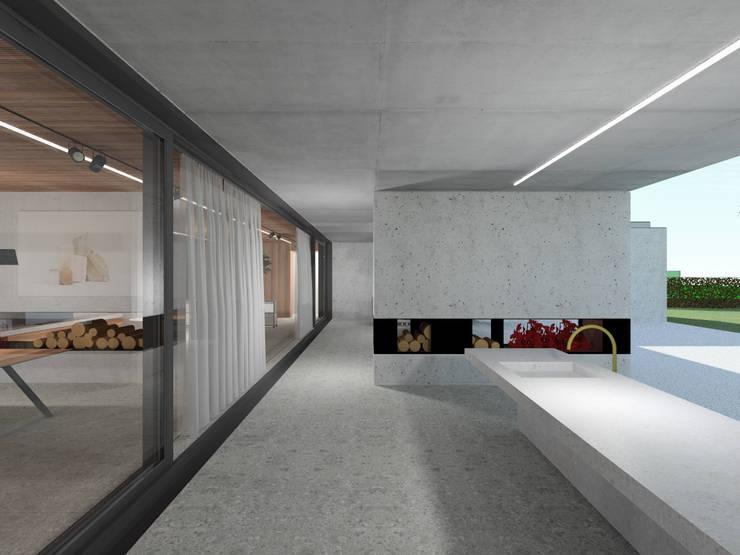 160_Casa Singola: Giardino in stile  di MIDE architetti