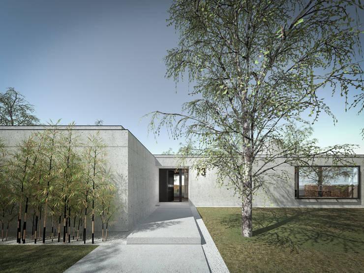 160_Casa Singola: Sala multimediale in stile  di MIDE architetti