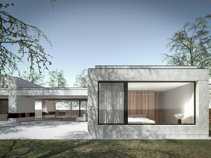 160_Casa Singola: Paesaggio d'interni in stile  di MIDE architetti