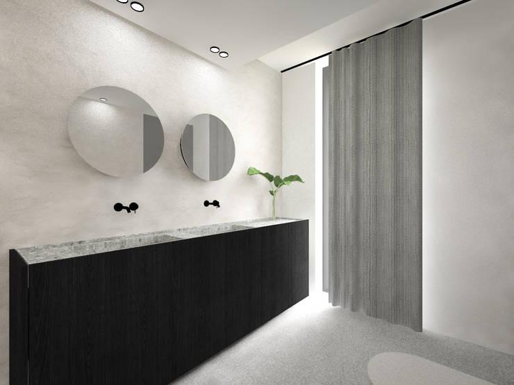 160_Casa Singola: Pareti & Pavimenti in stile  di MIDE architetti