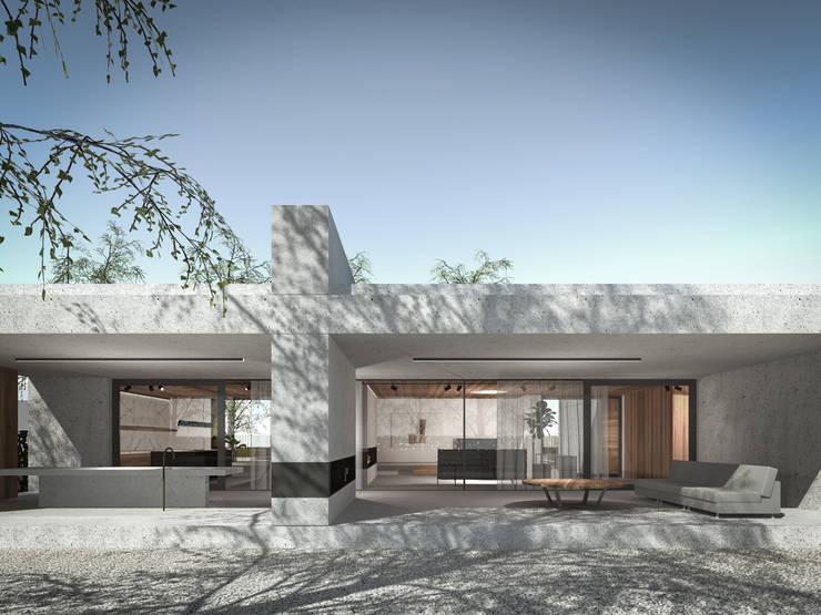 160_Casa Singola: Sala da pranzo in stile  di MIDE architetti