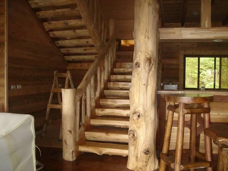 小木屋:  樓梯 by 茂林樓梯扶手地板工程團隊