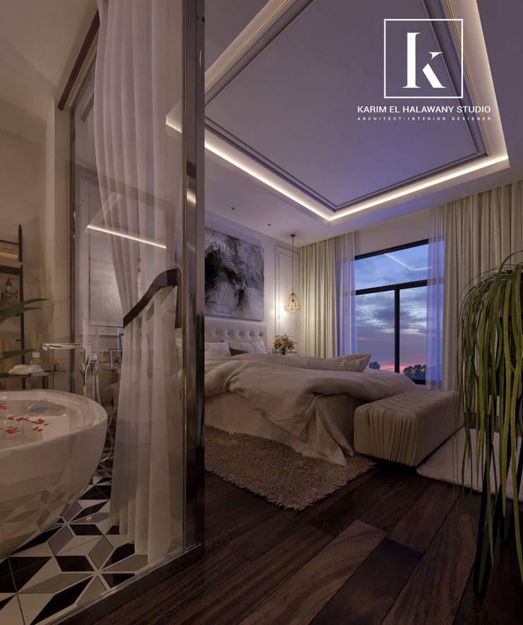 تاج سلطان:  غرف نوم صغيرة تنفيذ Karim Elhalawany Studio, كلاسيكي