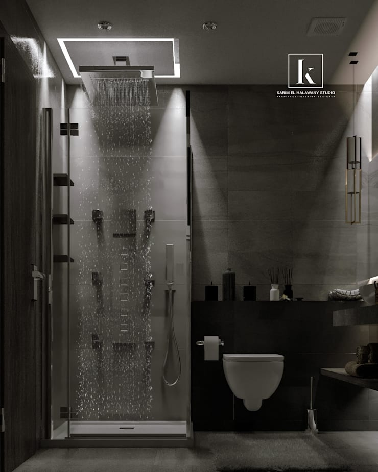تاج سلطان:  حمام تنفيذ Karim Elhalawany Studio, حداثي