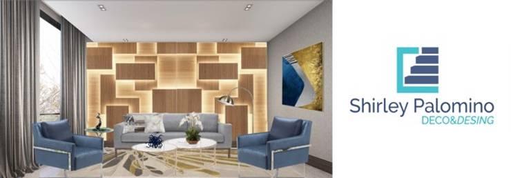 Sala remodelada  con muebles a medida: Salas/Recibidores de estilo  por Shirley Palomino
