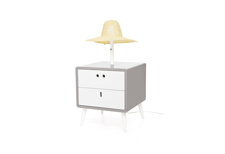 MARIA bedside table - Elegant Grey: Casa  por DAM