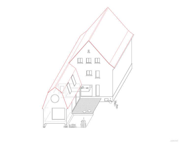 Wohnen im Garten:   von AMUNT Architekten in Stuttgart und Aachen