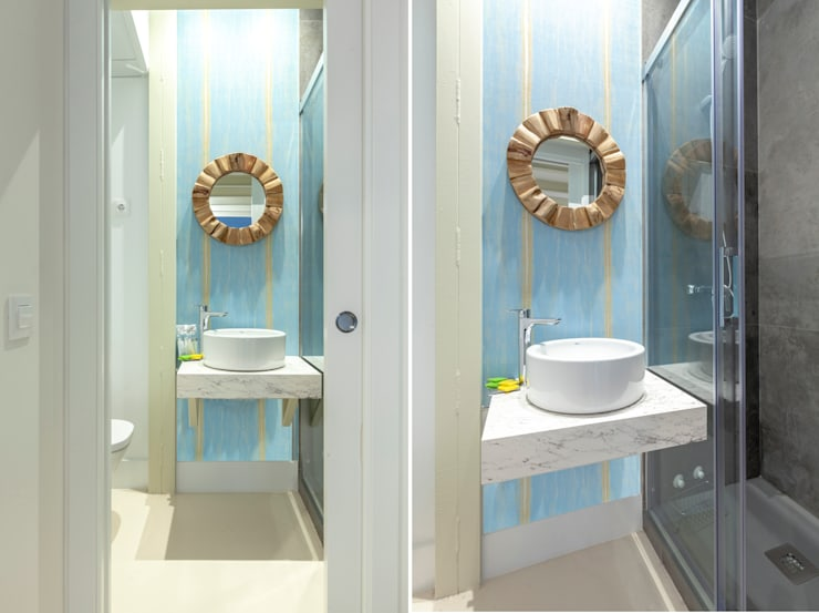 Salle de bain originale par Estudio Mercedes Arce Éclectique Bambou Vert