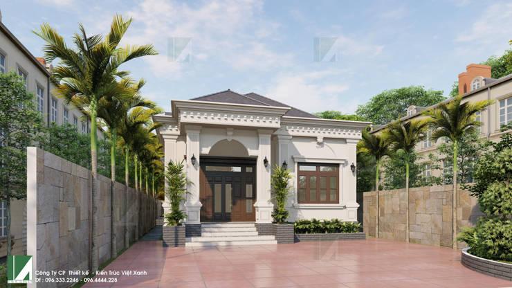 BIỆT THỰ 01 TẦNG -  TIÊN LÃNG - HẢI PHÒNG:   by công ty cổ phần Thiết kế Kiến trúc Việt Xanh