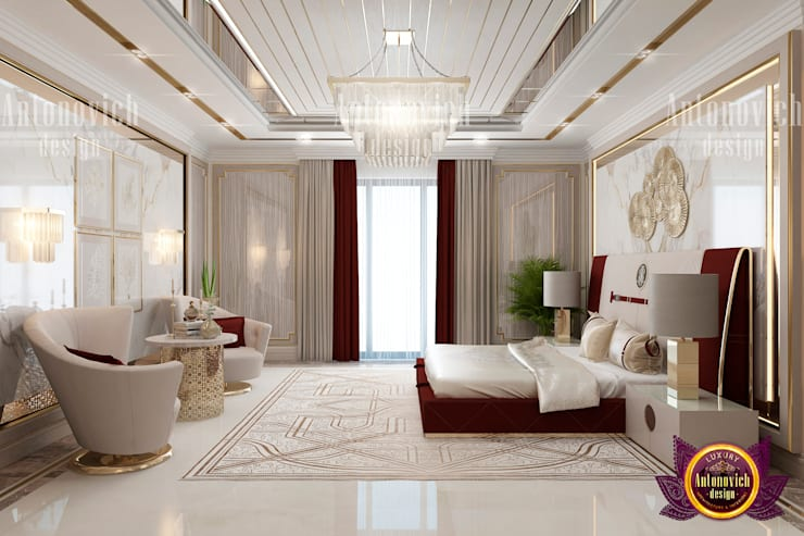 "Posh Bedroom Interior: {:asian=>""asian"", :classic=>""classic"", :colonial=>""colonial"", :country=>""country"", :eclectic=>""eclectic"", :industrial=>""industrial"", :mediterranean=>""mediterranean"", :minimalist=>""minimalist"", :modern=>""modern"", :rustic=>""rustic"", :scandinavian=>""scandinavian"", :tropical=>""tropical""}  by Luxury Antonovich Design,"