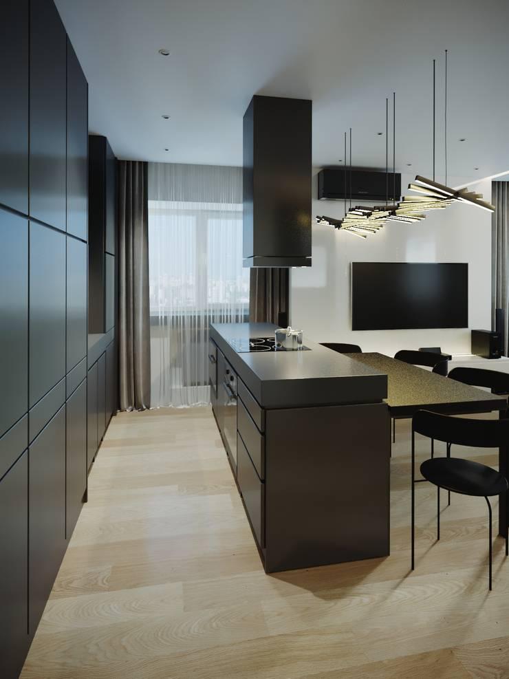 Квартира на Ленинском проспекте: Кухни в . Автор – Yurov Interiors,