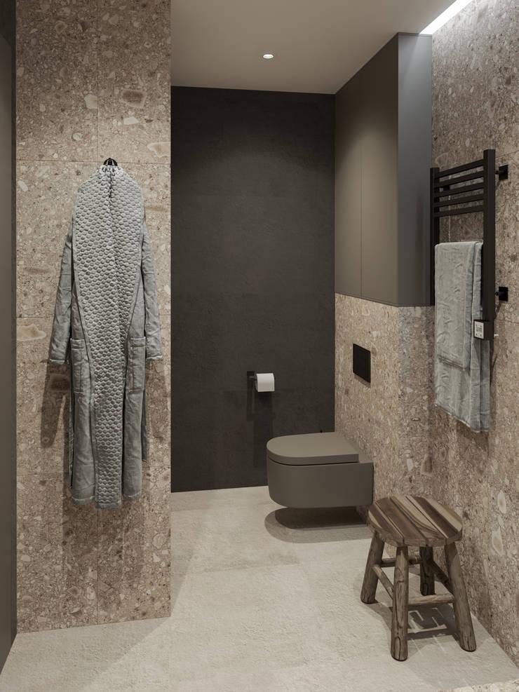 Квартира на Ленинском проспекте: Ванные комнаты в . Автор – Yurov Interiors,