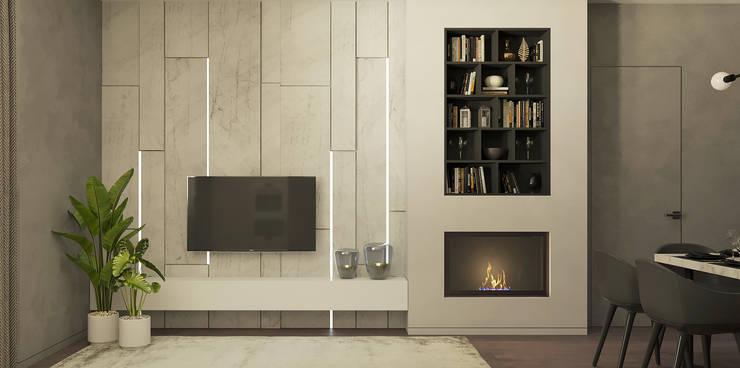 Living room by Yurov Interiors, Minimalist