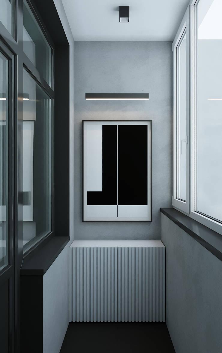 Рублевское предместье: балконы в . Автор – Yurov Interiors,