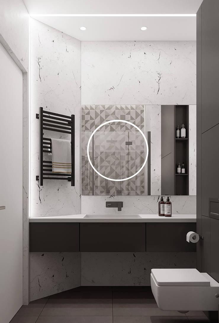 Рублевское предместье: Ванные комнаты в . Автор – Yurov Interiors,