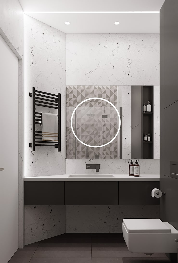 Bathroom by Yurov Interiors, Minimalist