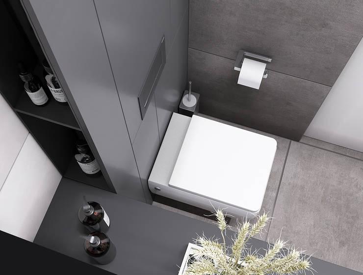 Квартира в ЖК <q>Резиденции Композиторов</q>: Ванные комнаты в . Автор – Yurov Interiors, Минимализм